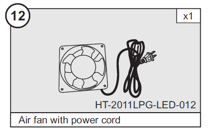 Air Blower and Cord for HT-2011LPG LED 47