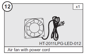 "Air Blower and Cord for HT-2011LPG LED 47"" Air Hockey Table  (Part #12)"