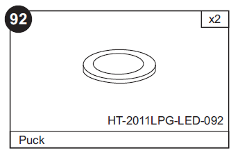 Replacement Air Hockey Pucks for HT-1010 and HT-2011LPG LED Tables (3/pack)