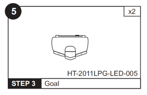"Goal Box for HT-2011LPG LED 48"" Hockey Table (HT-2011LPG-LED-005)"