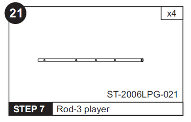 3 Player Rod for ST-2006LPG 48