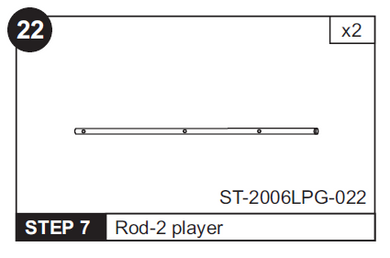 2-Player Rod for ST-2006LPG 48