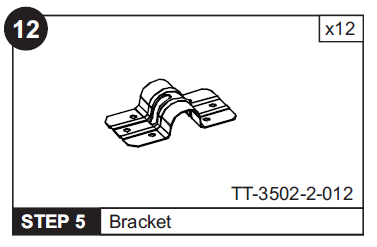 Bracket for TT-3502 Table Tennis