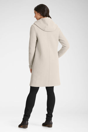 women's hooded boiled wool trench   glaze