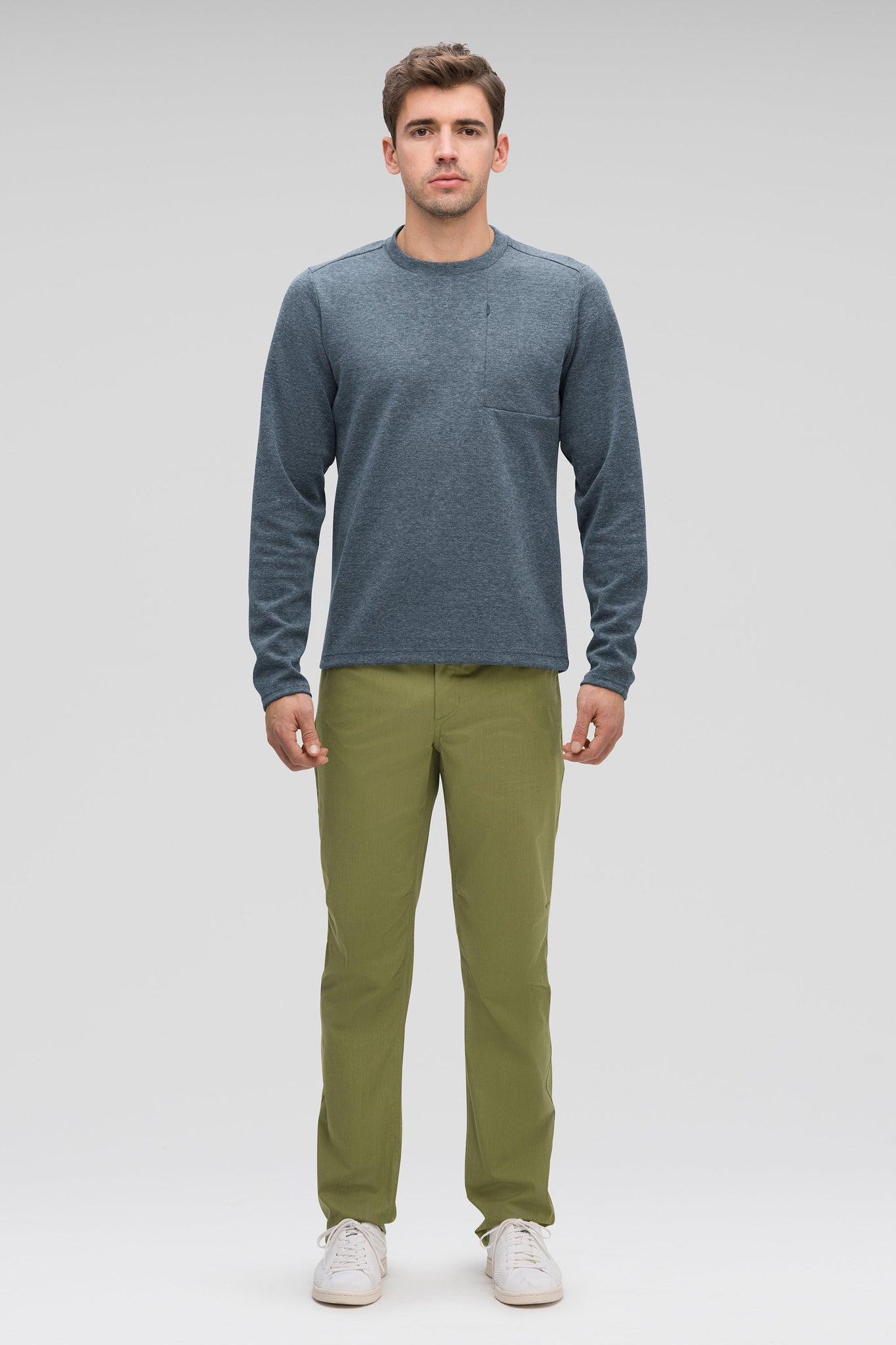 Men's Stretch Motil Organic Cotton Water resistant Pant-Green