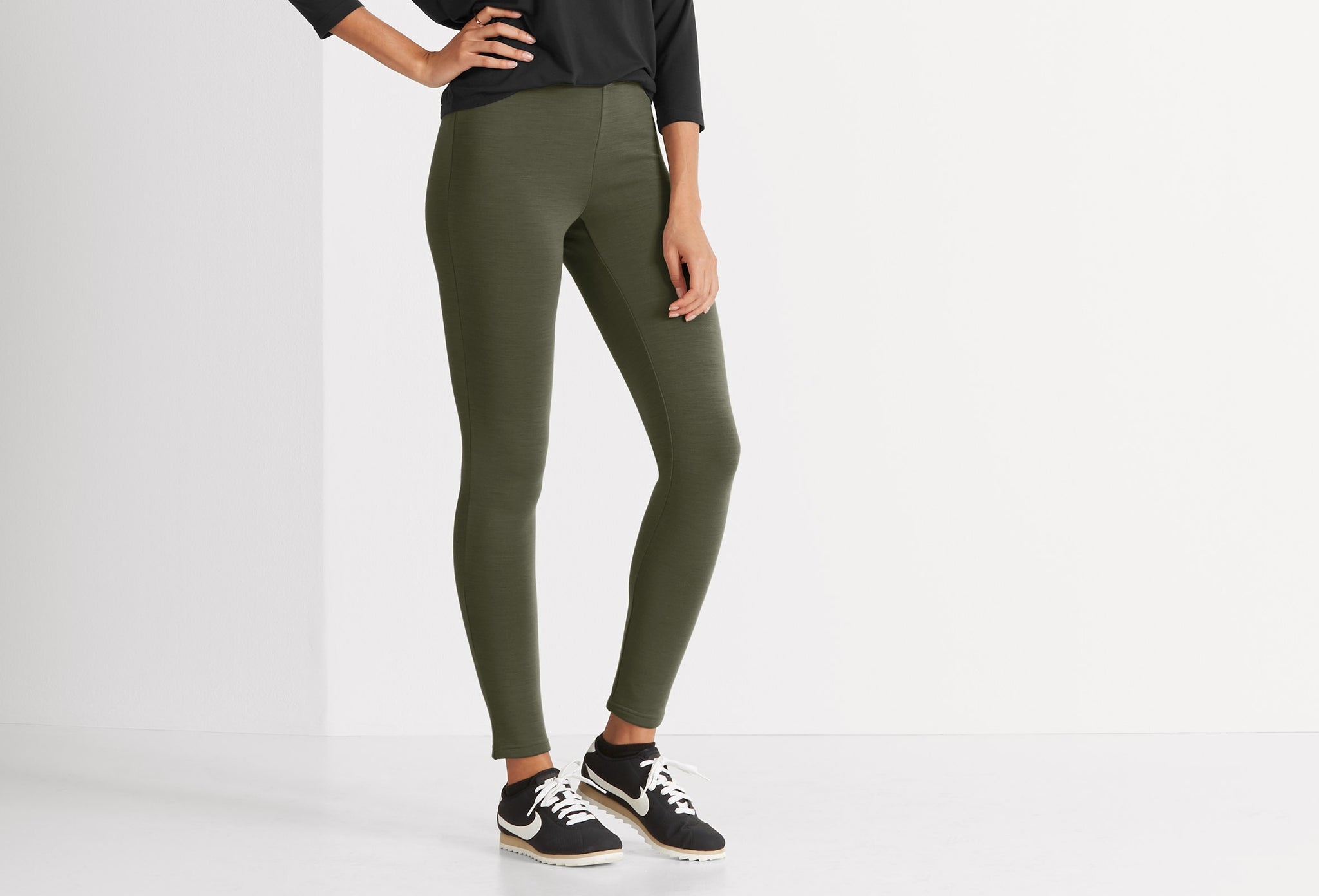 women's randygoat stretch tight-peat heather