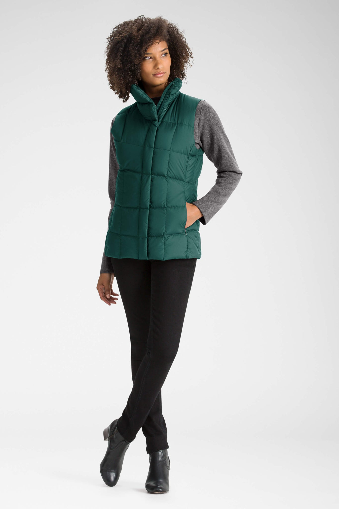 women's zip front ellipsis down insulated vest - ponderosa