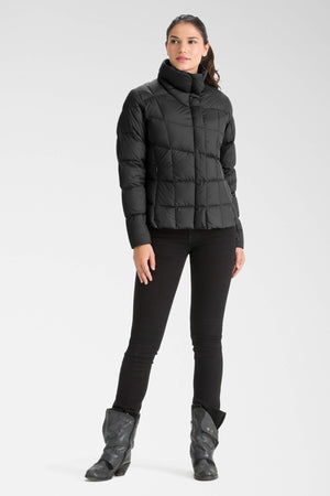 women's snap front ellipsis down insulated shirt   caviar