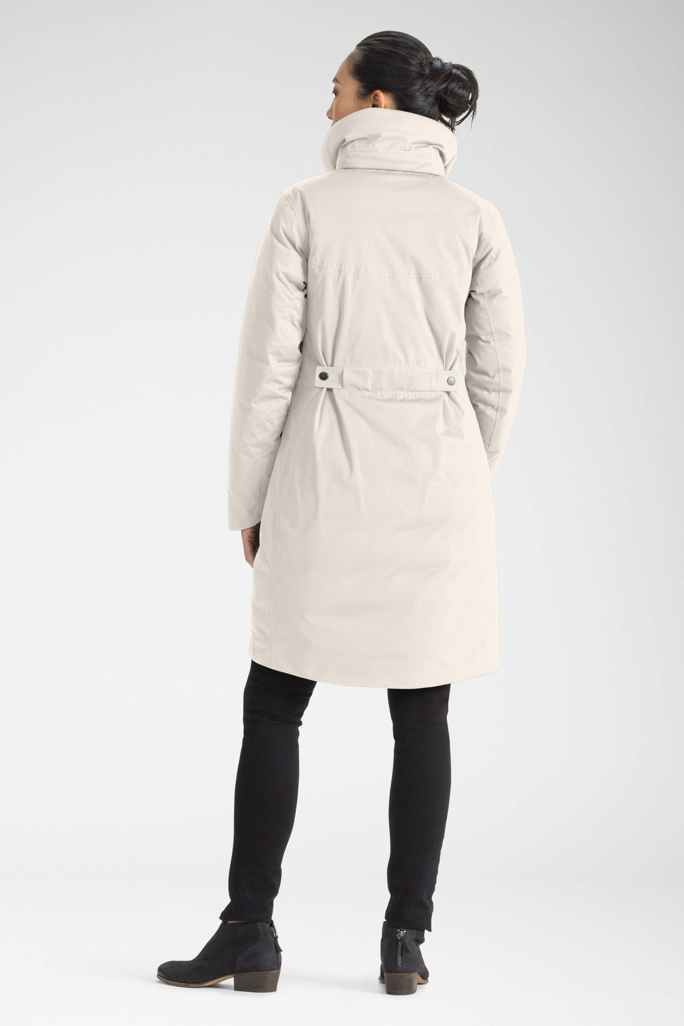 women's splendor down hooded trench coat - ivory