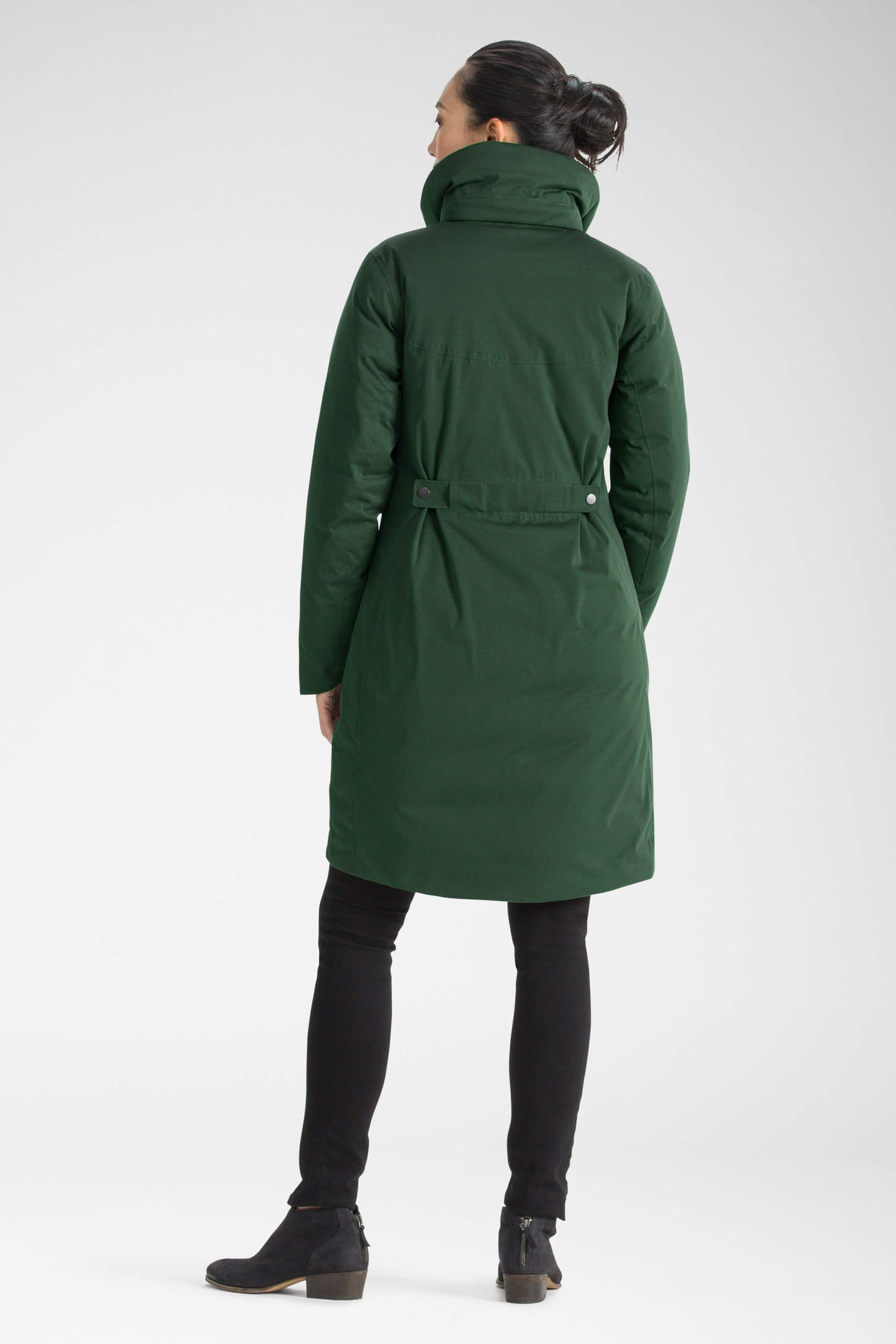 women's splendor down hooded trench coat - spruce