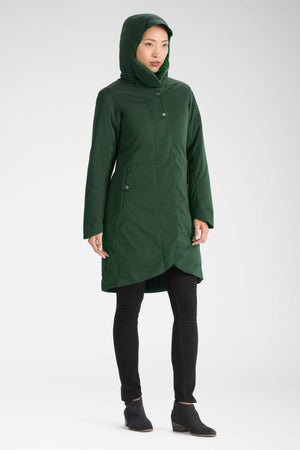 women's splendor down hooded trench coat   spruce