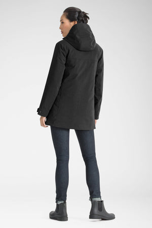 women's hooded waterproof reykjavik insulated jacket   caviar