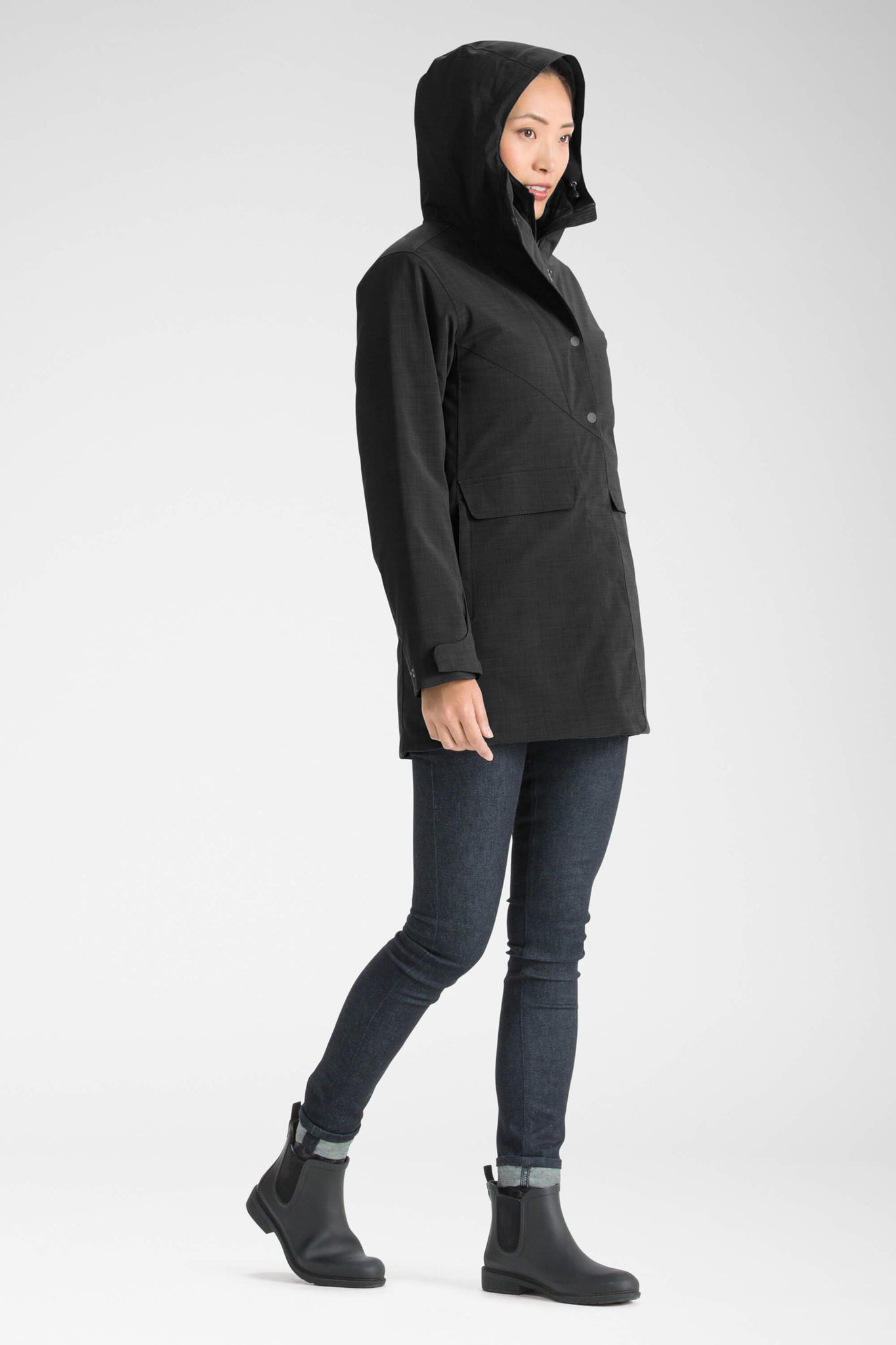 women's hooded waterproof reykjavik insulated jacket - caviar