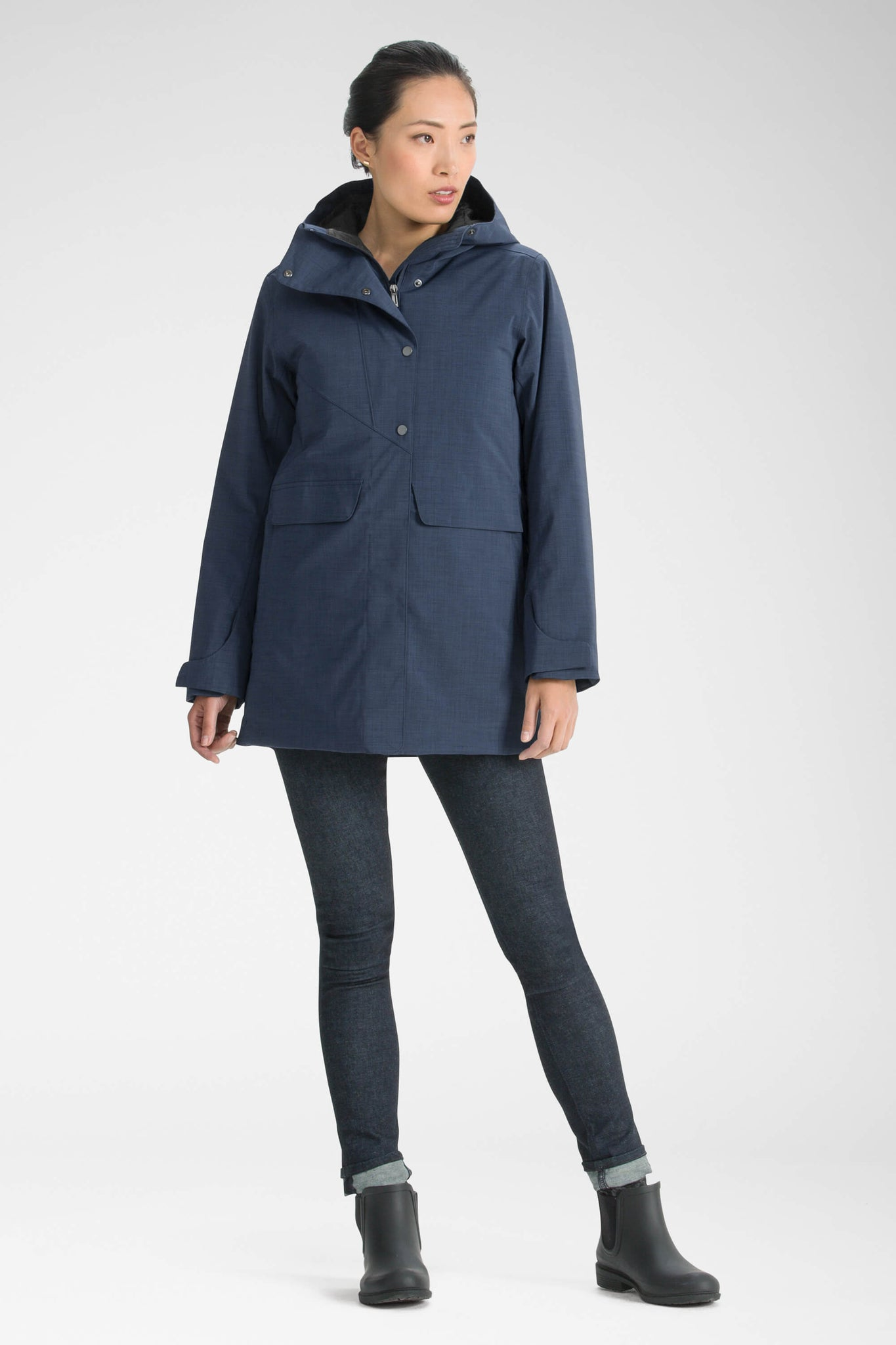 women's hooded waterproof reykjavik insulated jacket - navy