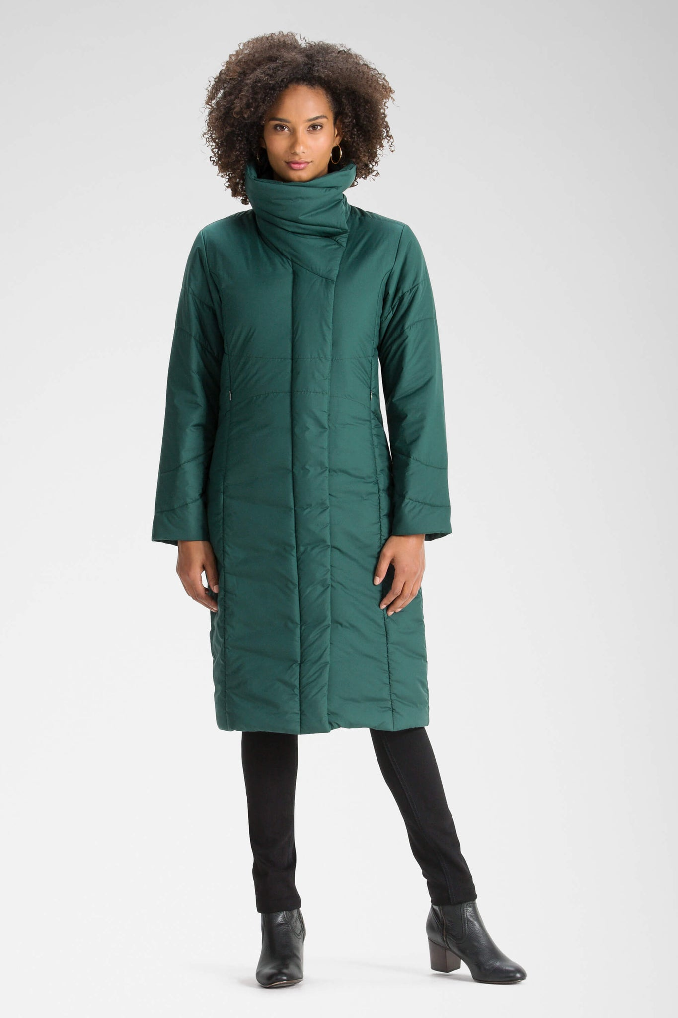 women's insulated sclendre trench with high neck - ponderosa