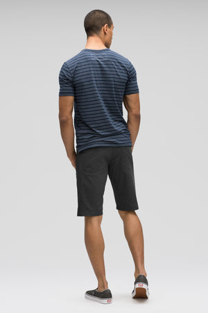 men's stretch motil 5 pocket quick dry short   caviar heather