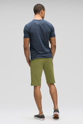 men's stretch motil 5 pocket quick dry short - loden heather