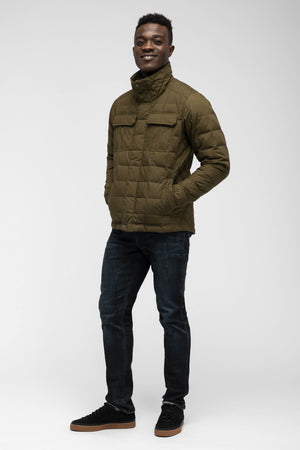 men's zip front utility down jacket   frond