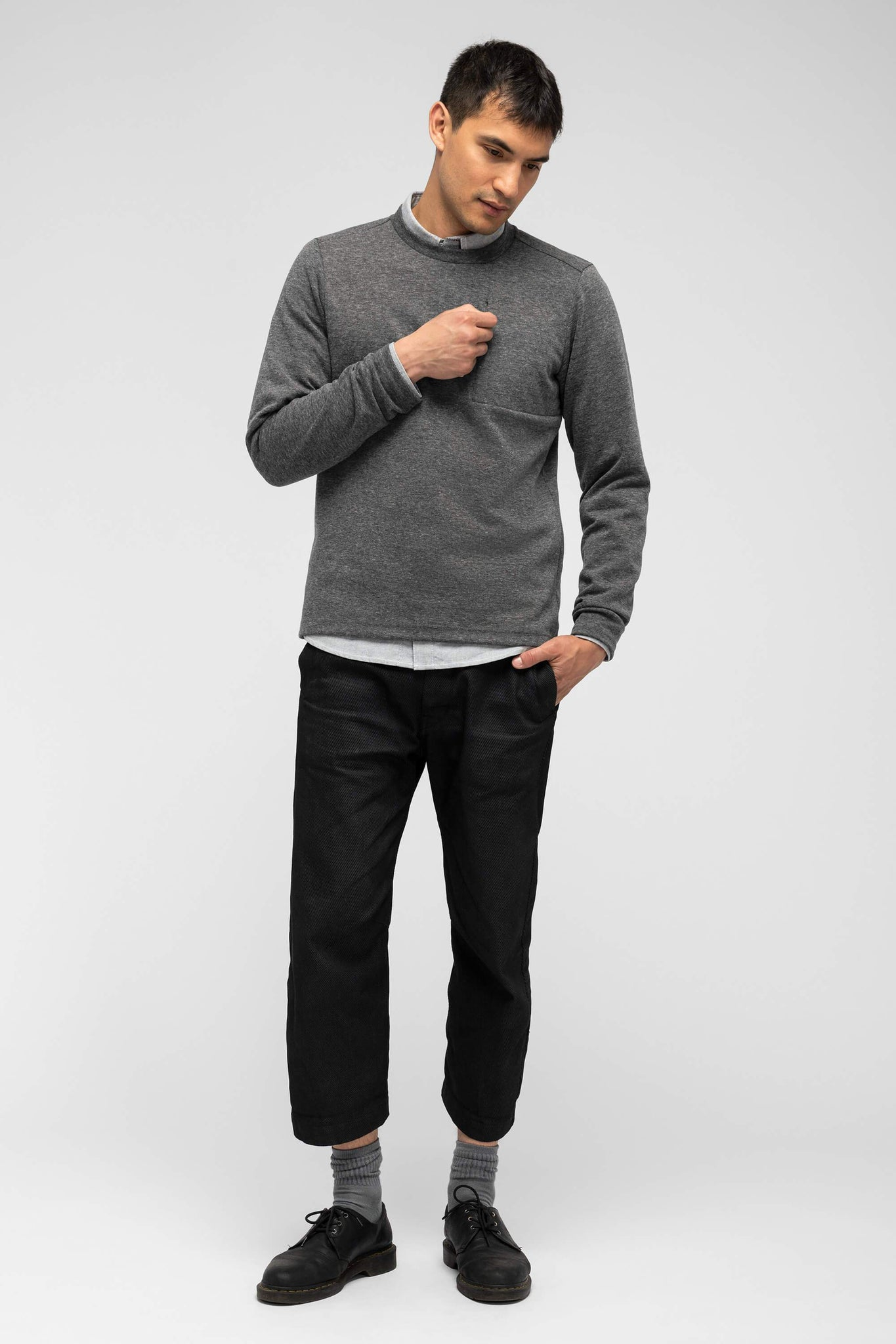 men's hyperspacer crew neck pullover - cape heather