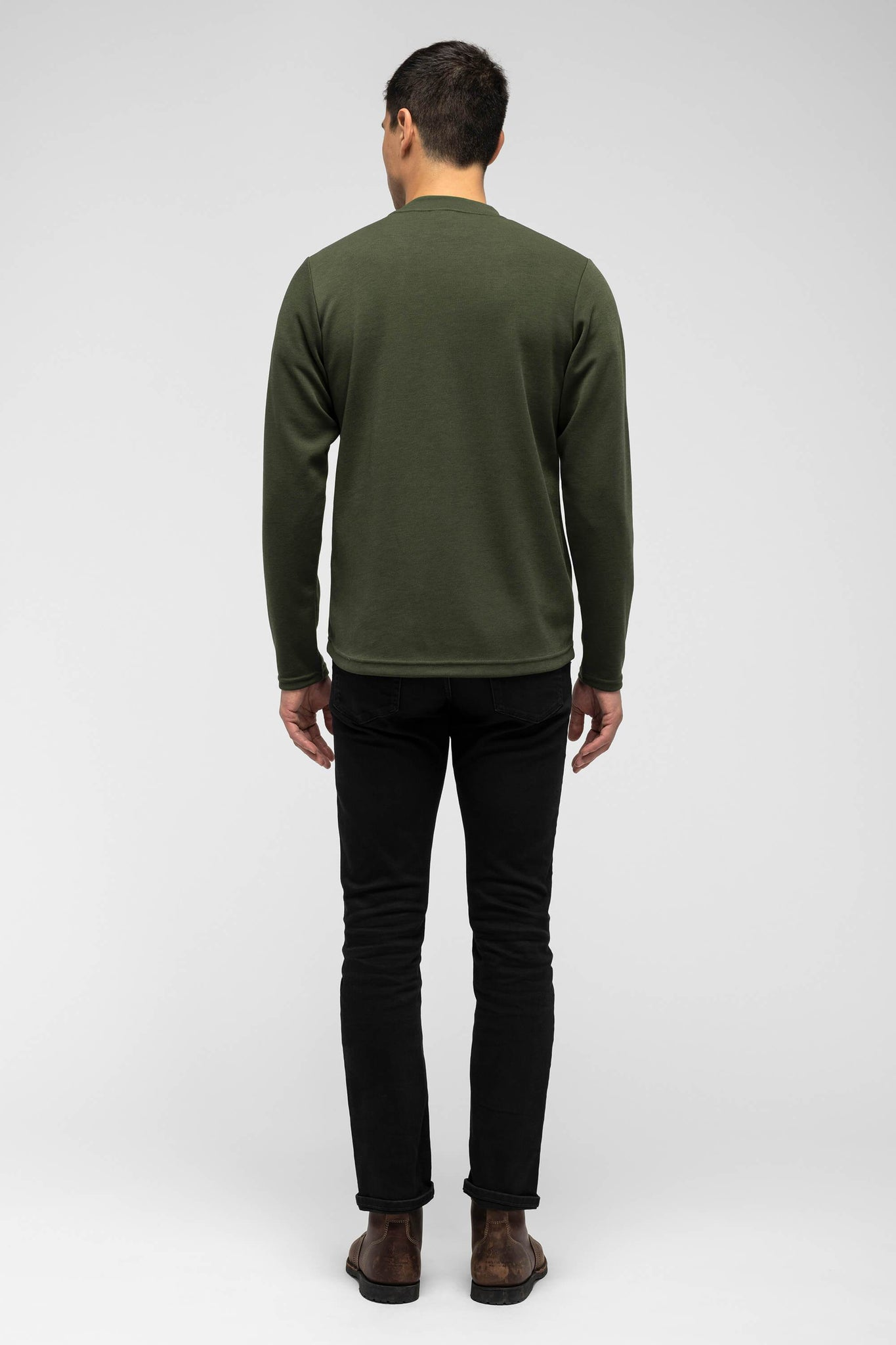 men's hyperspacer crew neck pullover - moss