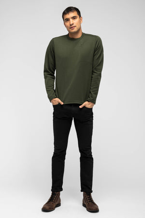 men's hyperspacer crew neck pullover   moss