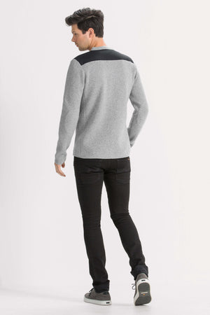 men's recycled wool stealth crew neck sweater   cape heather