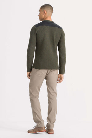 men's recycled wool stealth crew neck sweater   clove heather