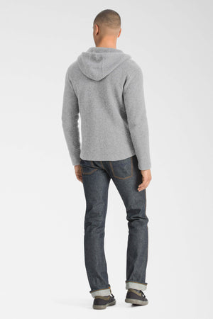 men's la grave zip front knit hoodie   cape heather