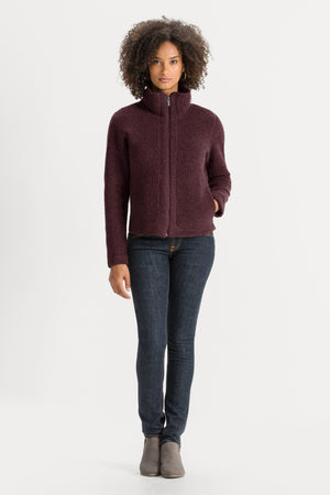 Women's Randygoat High Pile Shearling Zip Up Jacket   Plum