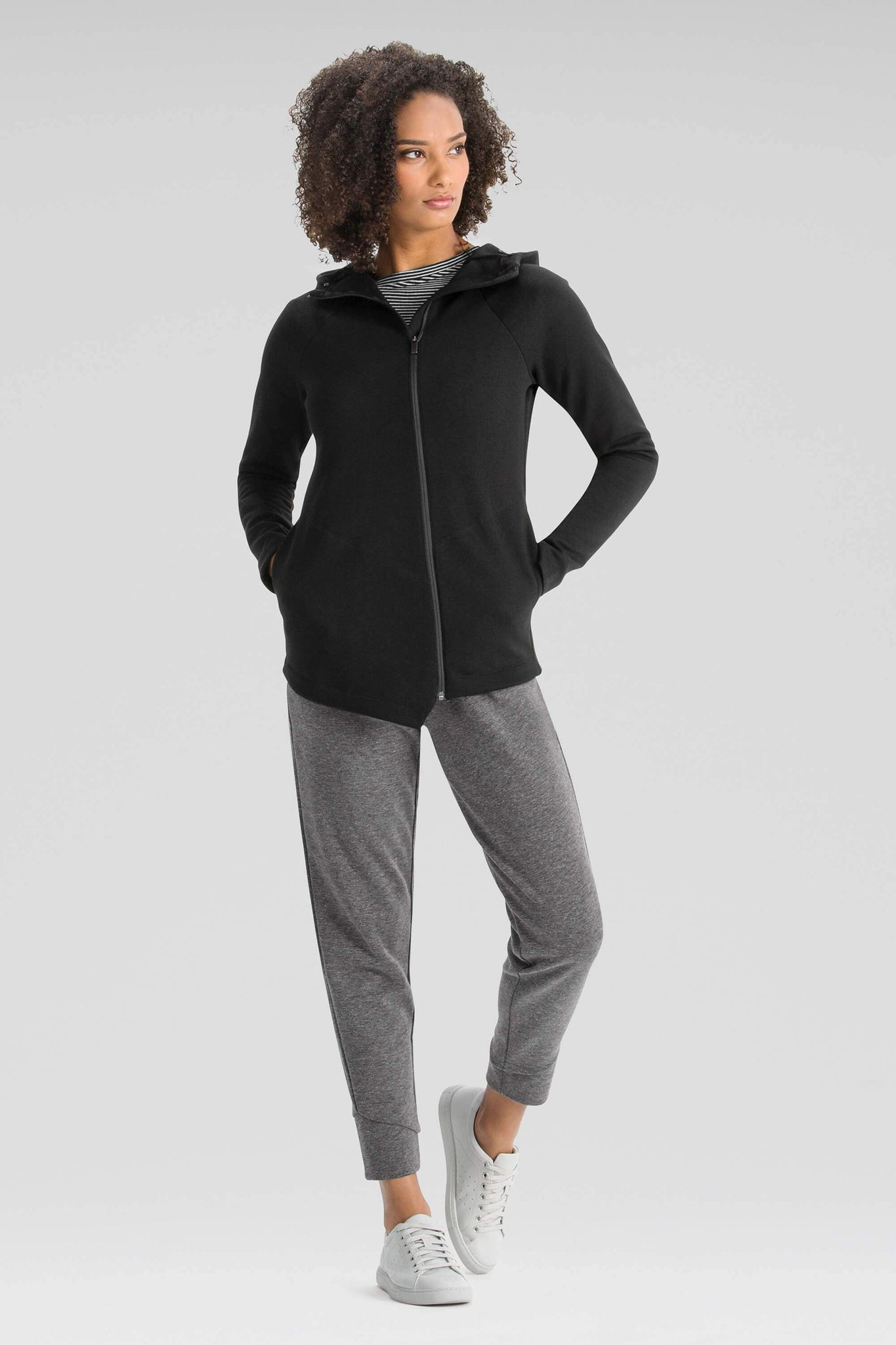 Women's Zip-up Hyperspacer Hoodie-Black