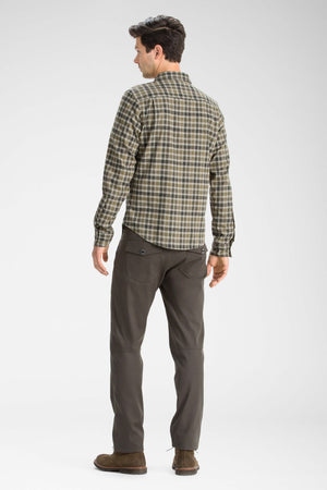 men's long sleeve hemp blend checkout shirt   peat plaid