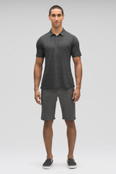 men's short sleeve kanab hemp blend polo - caviar heather