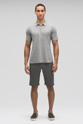 men's short sleeve kanab hemp blend polo - zinc heather