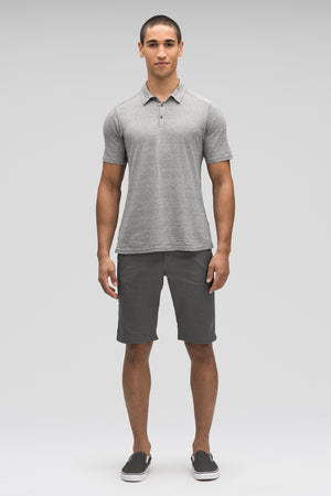 men's short sleeve kanab hemp blend polo   zinc heather