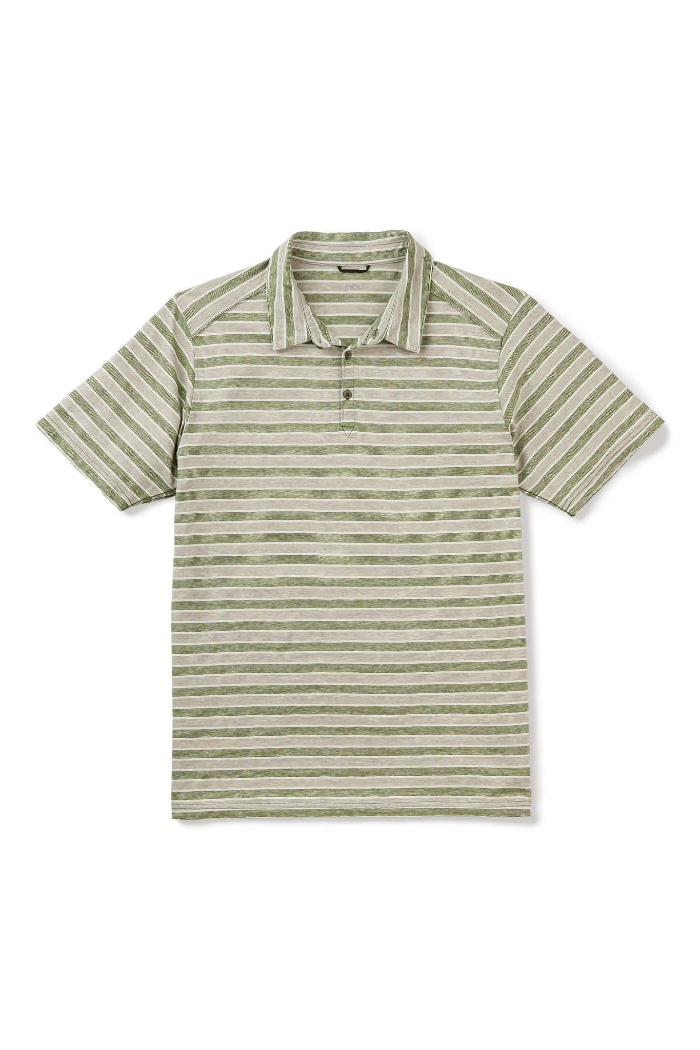 men's short sleeve kanab hemp blend polo - cedar stripe