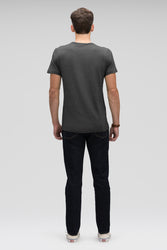 men's kanab hemp blend short sleeve t-shirt - caviar heather