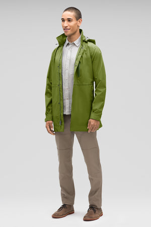 Men's Waterproof Sequenchshell Trench Coat   Green