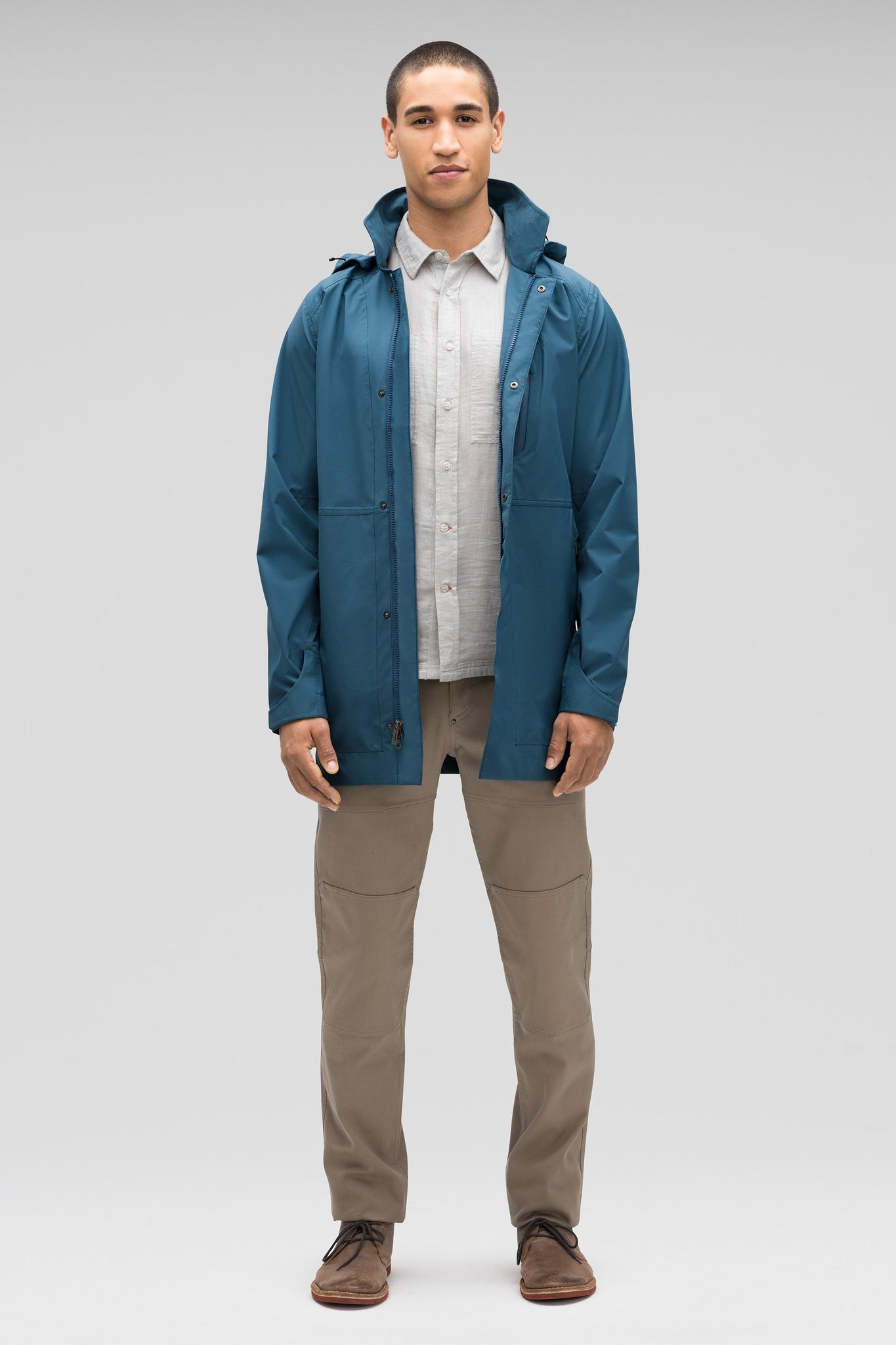 Men's Waterproof Sequenchshell Trench Coat - Blue