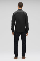 men's snap front introvert work shirt - caviar