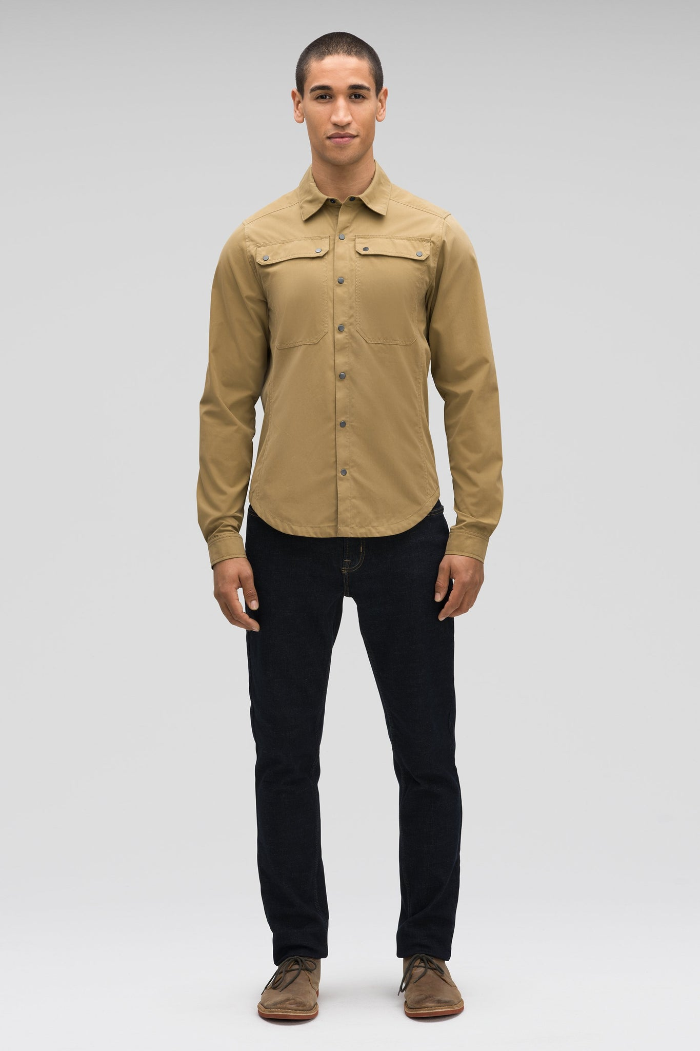 men's snap front introvert work shirt - nutmeg