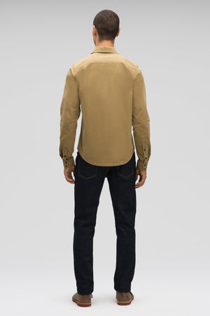 men's snap front introvert work shirt   nutmeg