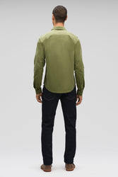 men's snap front introvert work shirt - loden
