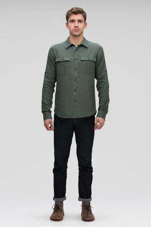 men's aere long sleeve button up shirt   loden check