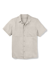 men's aere short sleeve button up shirt - zinc check