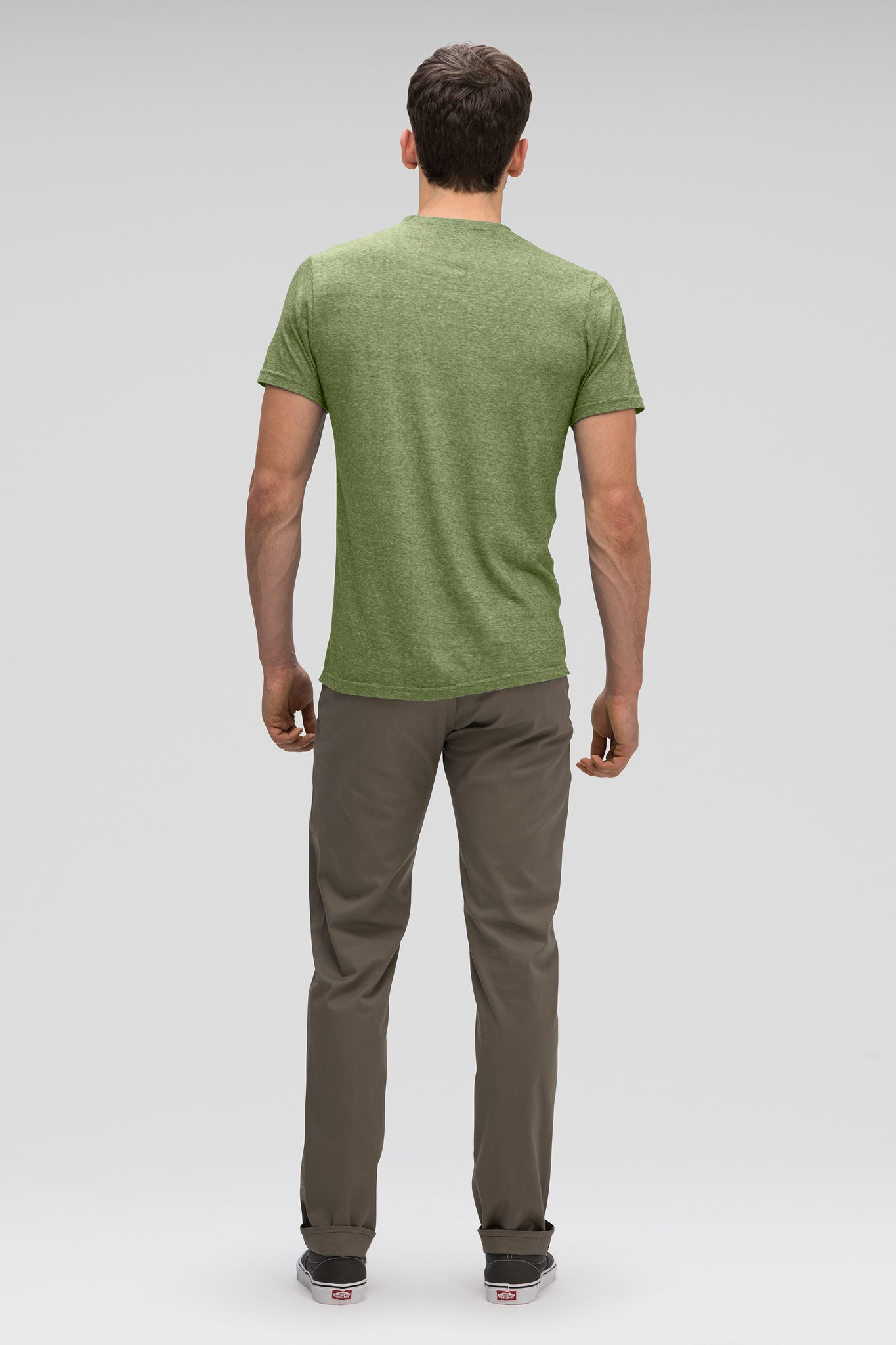 men's kanab hemp blend short sleeve henley - cedar heather