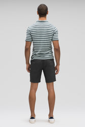 men's stretch motil quick dry chino short - caviar heather