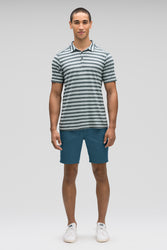men's stretch motil quick dry chino short - lagoon heather