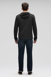 men's hyperspacer full zip hoody- caviar