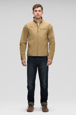 Men's Fitted Water Resistant Introvert Jacket   Tan