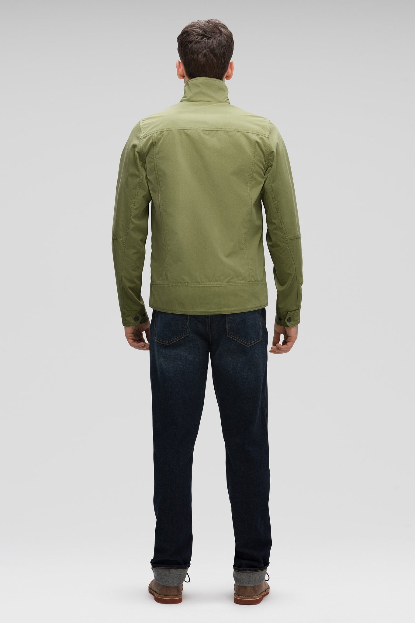 Men's Fitted Water-Resistant Introvert Jacket - Green